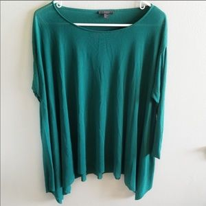 COS Hunter Green top - M